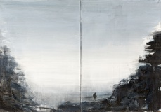 "Xianwei Zhu · ""Could mountain I"" · 2015 · Acryl auf Leinwand, 2- teilig · 70 x 100 cm"