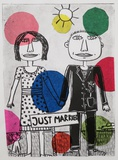 "Irene Fastner · ""Just married"" · 2014 · Lithografie · 32 x 23 cm"