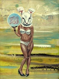 "Annette Reichardt und Stewens Ragone · ""The habbit of the rabbit II · 2015 · Tempera auf Leinwand · 40 x 30 cm"
